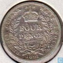 Guyane britannique et des Indes occidentales 4 pence 1891