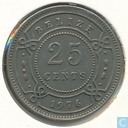 Belize 25 cents 1976