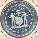 "Belize 5 dollars 1974 (PROOF) ""Keel-billed Toucan"""