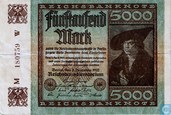 Reichsbanknote 5000 Mark 1922 (#81a)