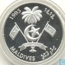 "Maldives 100 rufiyaa 1993 (PROOF - year 1414) ""Cutty Sark"""