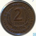 British Caribbean Territories 2 cents 1957