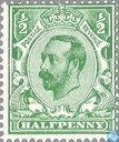 Postage Stamps - Great Britain [GBR] - George V-Emperor Crown Watermark