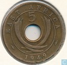 Oost-Afrika 5 cents 1949