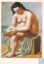 Seated Nude Drying Her Foot
