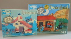 Disney, Walt - 2 sets Disneyland Plastic City - Mickey Mouse series - 601 + 613 (1970s)