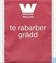 Tea bags and Tea labels - Willys - te rabarber grädd
