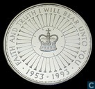 "United Kingdom 5 pounds 1993 (PROOF) ""40th Anniversary of the Reign of Queen Elizabeth II"""