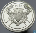 "Großbritannien 2 Pound 1986 (PROOF - Ag 925) ""Commonwealth Games 1986"""