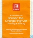 Grüner Tee - Orange-Ingwer
