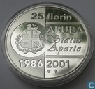 "Aruba 25 florin 2001 (PROOF) ""15 years Status Aparte"""