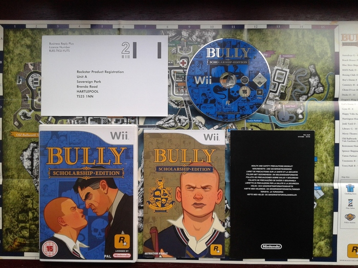 Nintendo Wii game: Bully: Scholarship Edition + poster/map