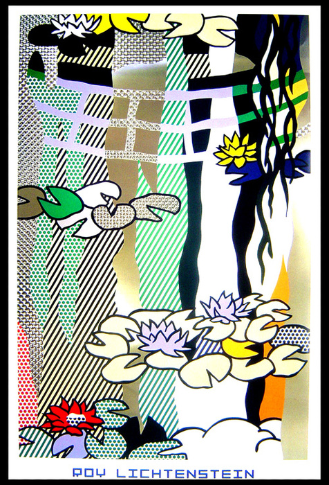 Roy Lichtenstein - Waterlilies with japanese bridge - 1992