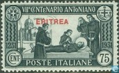 Anthony of Padua, with overprint