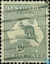 Kangaroo on map