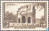 Postage Stamps - France [FRA] - Orange - Triumphal arch