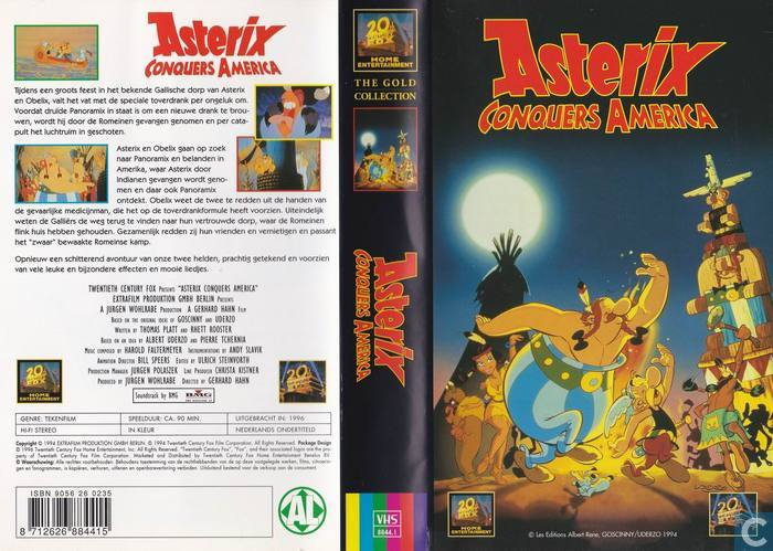 asterix conquers america vhs video tape catawiki. Black Bedroom Furniture Sets. Home Design Ideas