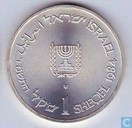 "Israel 1 sheqel 1984 (year 5744) ""36th Anniversary - State of Israel"""