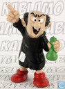 Gargamel with bottles (pointing up)