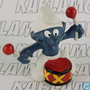 Drummer Smurf (red/white sticks)