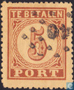 Port seal Large value numeral 5 cents