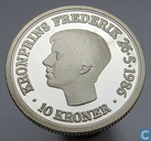 "Danemark 10 kroner 1986 (BE) ""18th Anniversary of the Crown Prince Frederik"""