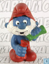 Papa Smurf with test tubes (red bottle)