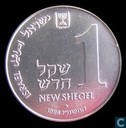 "Israel 1 new sheqel 1986 (year 5747) ""Algierian lamp"""