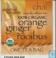 100% organic orange ginger rooibus