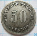 German Empire 50 pfennig 1876 (D)