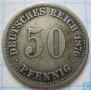 German Empire 50 pfennig 1876 (A)