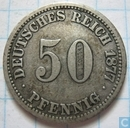 German Empire 50 pfennig 1877 (A)