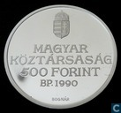 "Hungary 500 forint 1990 (PROOF) ""200th anniversary Ferenc Kölcsey"""