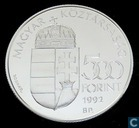 "Hongarije 500 forint 1992 (PROOF) ""Telstar 1 satelliet"""