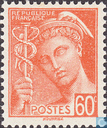 Postage Stamps - France [FRA] - Mercury