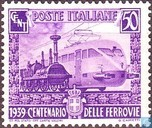Postage Stamps - Italy [ITA] - Railways 100 years