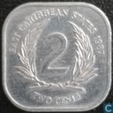 Eastern Caribbean States 2 cents 1987