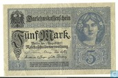 Banknotes - Darlehnskassenschein - Germany 5 Mark