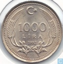Turkey 1000 lira 1992