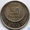 Tunisia 50 francs 1950 (year 1370)
