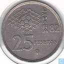 "Spain 25 pesetas 1980 (82) ""1982 FIFA World Cup"""