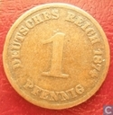 Empire allemand 1 pfennig 1874 (H)