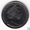 "British Virgin Islands 1 dollar 2009 ""Queen Elizabeth I between pillars"""