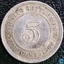 Straits Settlements 5 Cent 1885