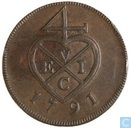 British India ½ pice 1791 (copper)
