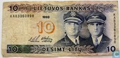 Lithuania 10 Litu 1993