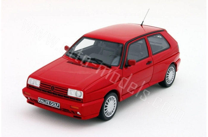 Otto Mobile - Scale 1/18 - Volkswagen Golf II G60 Rallye,_limited 2000 Pieces - Colour Red