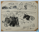 Jan Wiegers-pâturage des vaches, ca. 1935