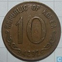 South Korea 10 hwan 1959 (year 4292)