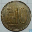 South Korea 10 won 1966
